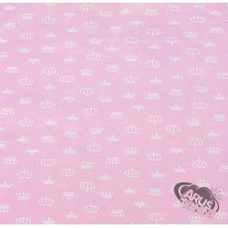 Korony na różowym tle