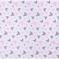 Różowo szare motylki
