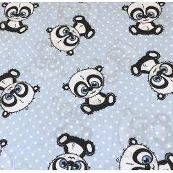 Pandy na niebieskim tle