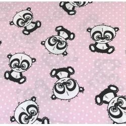 Pandy na różowym tle