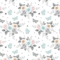 Mini różyczki na białym tle