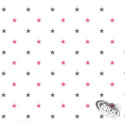 Różowo popielate gwiazdki w121